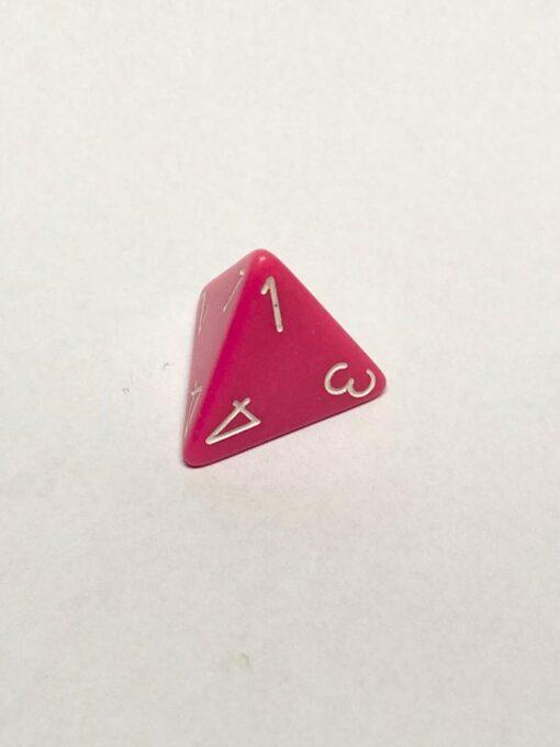 4 Vlakken Dobbelsteen Roze met Wit 16mm