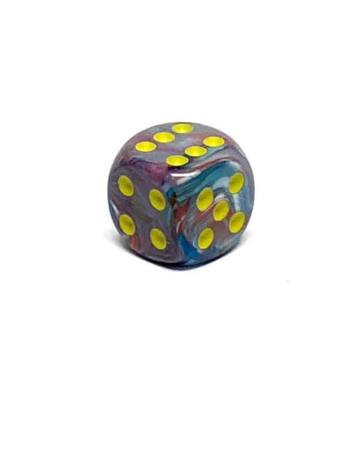 6 Vlakken Dobbelsteen Festive Mosaic Yellow 16mm