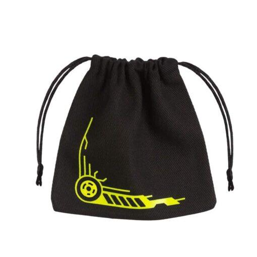 Dice Bag Galactic Black Yellow Dice Bag Q-Workshop
