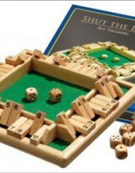 Shut the Box Dobbelspel 4 personen (10) 22,5x22,5x3cm Deluxe