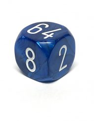 Backgammon Dobbelsteen Verdubbeldobbelsteen (Cube) Blauw 30mm