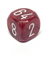Backgammon Dobbelsteen Verdubbeldobbelsteen (Cube) Rood 30mm
