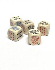 Poker Dobbelstenen Hout Set van 5 stuks 16mm