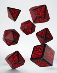 Polydice Set Q-Workshop Dwarven Black Red